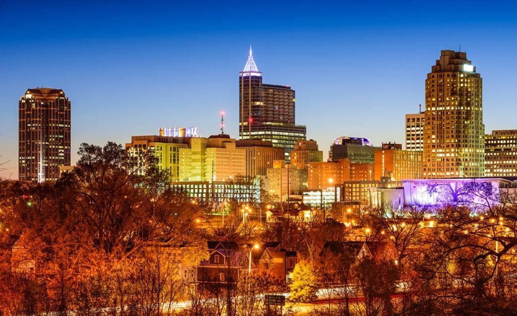 Raleigh North Carolina Skyline