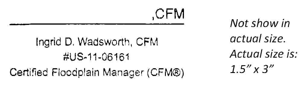CFM Sample Signature Stamp