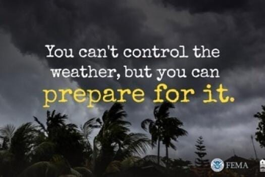 You don't control the weather but you can prepare