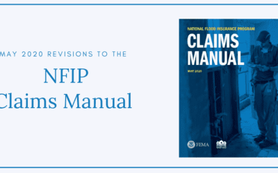 NFIP Claims Manual for May 2020 Released