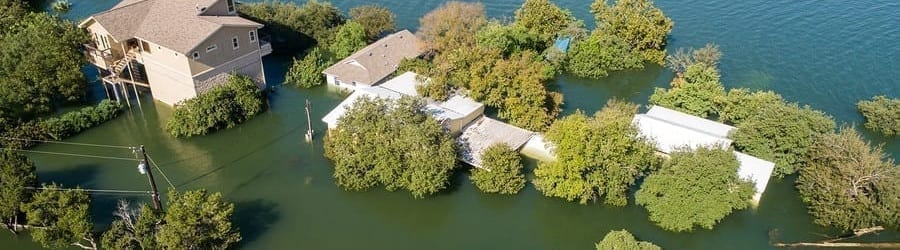 Homes flooding