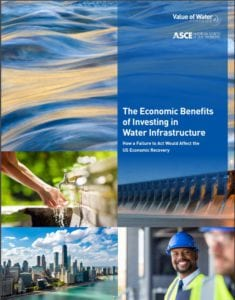 Cover of ASCE water infrastructure report
