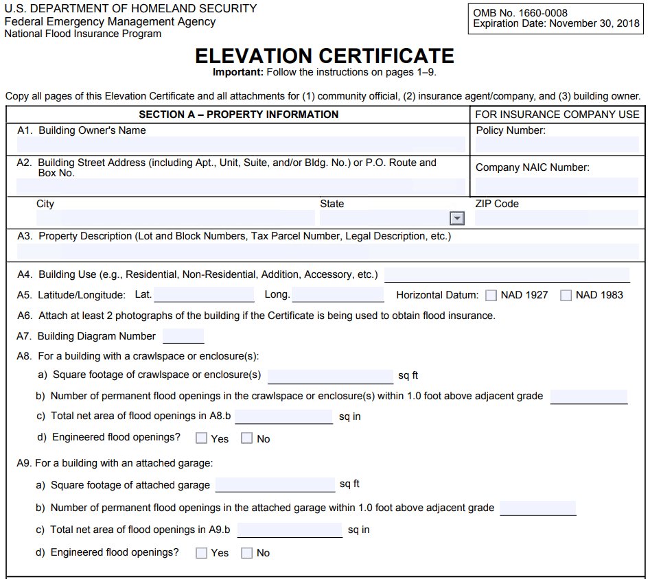 Elevation Certificate Example